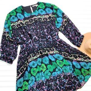 RACHEL ZOE Long sleeve floral printed dress